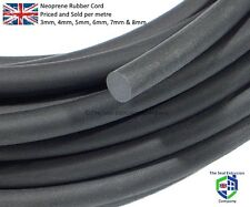 Closed Cell NEOPRENE SPONGE CORD Foam Rubber  3mm,4mm,5mm,6mm,8mm,10mm