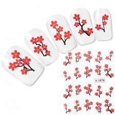 Tattoo Nail Art Aufkleber Kirschblüten Japan Orchidee Glitzer Nagel Sticker Neu!