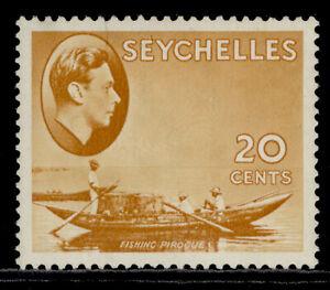 SEYCHELLES GVI SG140a, 20c brown-ochre, M MINT. Cat £29. CHALKY
