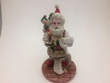 "Santa Figurine w/ Elf Sitting on Shoulder Checking His List 6"" David Eric Chris"