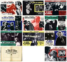 LA JENA DI LONDRA SET COMPLETO FOTOBUSTE 10 PZ. HORROR TONY KENDALL LOBBY CARD