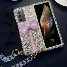 For Samsung Galaxy Z Fold 2/Z fold 3 Women Bling Diamonds Luxury Hard Phone Case