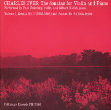 Vol. 1-Charles Ives: Sonatas For Violin & Piano - Zukofsky (2009, CD NIEUW) CD-R