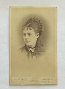 MABEL GREY - FAMOUS COURTESAN - CDV PHOTO by ELLIOTT & FRY, LONDON 1860s/70s