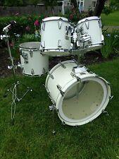 "Vintage 1980s Tama Granstar Custom Birch Drum Set 10"", 12"" 14"" & 22"""