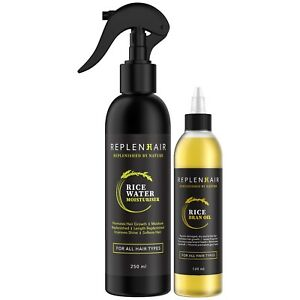 Replenhair Rice Water and Rice Bran Oil BUNDLE for fast hair growth
