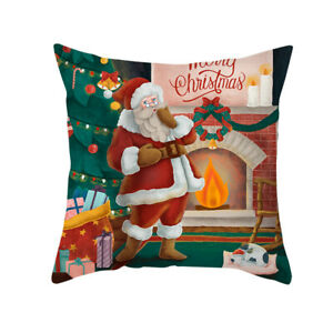 Christmas Day Soft Cushion Covers Square Pillow Case Cover Sofa Home Decor #88