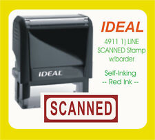 SCANNED, Custom Made Trodat / Ideal Self Ink Stamp 4911 Red Ink