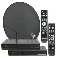 GEOSATpro HDVR3500 Complete Two Room FTA  Satellite System with IPTV