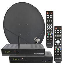 GEOSATpro HDVR3500 Complete Two Room FTA  Satellite System with IPTV