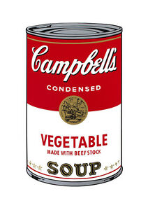 Soup Can Series #1 Vegetable by Andy Warhol A2 High Quality Canvas Print