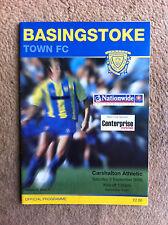 Basingstoke Town v Carshalton Athletic - Nationwide South 2005/06 Programme