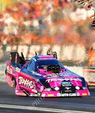 FUNNY CAR PHOTO COURTNEY FORCE DRAG RACING 2013 POMONA BREAST CANCER AWARENESS