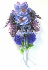 """""""SHADY GLADE"""" Water Lily Rose Purple Floral Wall Decoration EXCLUSIVE HANDMADE"""