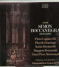 Verdi SIMON BOCCANEGRA Domingo Ricciarelli LP RCA sigil