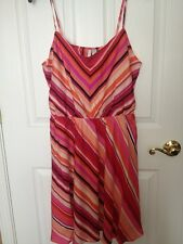 NWT $60 Lauren Conrad Chevron Striped Pink Dress 14