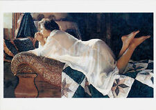 VERY RARE STEVE HANKS sexy girl on the sofa erotic unposted modern postcard