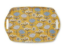 Cooksmart Large Serving Tray Large, Melamine, Handles RETRO MEADOW