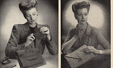 Vintage (Instructions only),1930s Leather/Knitted Handbag, Purse & Gloves, Repro