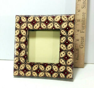 """1 Small Decorative Batik Picture Frame, 6"""" Height, Made in Bali"""