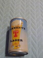 Blue/White TENNENT'S LAGER BEER CAN Pull Tab TOP OPEN 12 oz empty STEEL Scotland