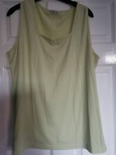 Ladies Evans essence size 18 to 20 Green sleeveless top