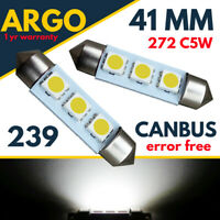 Fits Vauxhall Vivaro Interior White Led Light Bulb Festoon Canbus Error Free Smd
