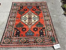 4x5ft. Interesting Afghan Chobi Wool Rug