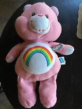 "31"" Light Pink Rainbow Care Bear Pillow 2002 W/ Original Tags & CLEAN."