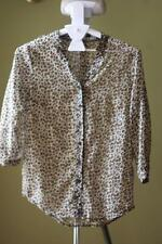 Polyester Animal Print 3/4 Sleeve Unbranded Tops & Blouses for Women