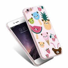 Little Bear Fruit Pattern Shockproof Phone Cases Cover for iPhone Samsung Huawei