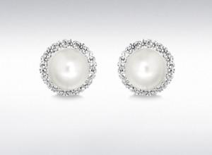 Sterling Silver Fresh Water Pearl Stud Earrings