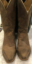 Nocona Leather Stamped Auburn AU Women's Cowboy Boots Size 8.5 B Gameday