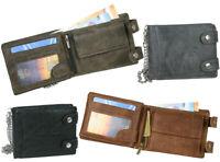 Herren Geldbörse Biker Brieftasche mit Kette Portemonnaie Geldbeutel 4 Farben