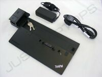 New Lenovo ThinkPad X240 L540 Pro Docking Station Port Replicator Inc 65W PSU