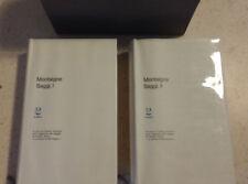 Montaigne - Saggi 2 volumi perfetti Adelphi con cofanetto. Occasione! Perfetti!