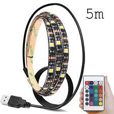5M 5V 5050 60SMD/M RGB LED Strip Light Bar TV Back Lighting +USB Remote Control
