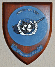 UNFICYP Transport Squadron 51 Port Squadron RCT 1977 plaque shield UN Cyprus