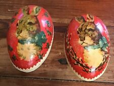 Beautiful Vintage German Easter Egg Candy Container