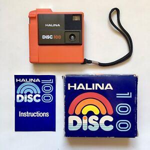 Vintage Orange Halina Disc 100 Pocket Camera - Mint Condition