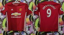 Manchester United Zlatan Ibrahimovic #9 Football Shirt Soccer Jersey Top Youth M