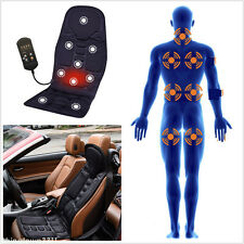 1x Car Seat Cushion Heated Massage Back Neck Pain Lumbar Pad Vibration Massager