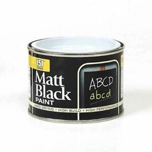 Matt Black Paint 151 Tin Wood Metal Concrete Indoor Outdoor 180ml