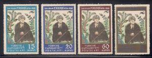 Turkey   1950   Sc # 1037-40   VLH   OG   (53090-5)