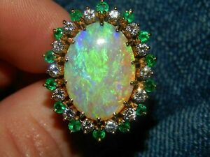 1.20Ct Marquise Cut Fire Opal /& Diamond Engagement Ring 14K Yellow Gold Finish