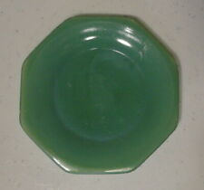 "Vintage AKRO AGATE Green OCTAGONAL Childrens Toy DISHES Large 4""Plate MORE AVLBL"