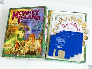 "COMMODORE AMIGA THE SECRET OF MONKEY ISLAND COMPUTER GAME 3.5"" LUCASFILM 1991"