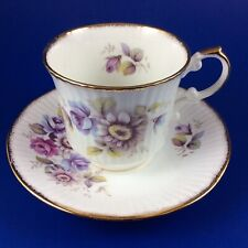 Queen's Rosina Pastel Floral Fine Bone China Tea Cup And Saucer