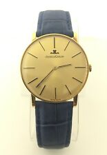 Rare Vintage Jaeger-LeCoultre Solid 18k Gold Manual Wind 1960's JLC Men's Watch
