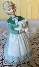 ROYAL DOULTON LADY FIGURE  STAYED AT HOME PIGGY  HN 2207 GREEN DRESS PERFECT